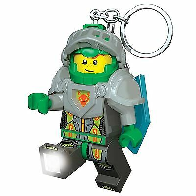 OFFICIAL LEGO NEXO KNIGHTS AARON KEYLIGHT KEYRING WITH SHIELD POWER CODE KIDS
