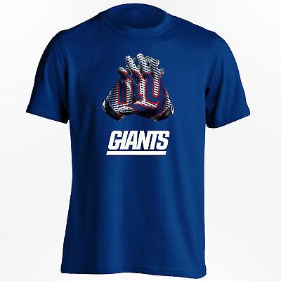 New York Giants T-Shirt - NFL Gloves Design Shirt for S-5XL