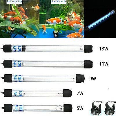 Aquarium Submersible UV Light Sterilizer Pond Fish Tank Germicidal Clean Lamp -