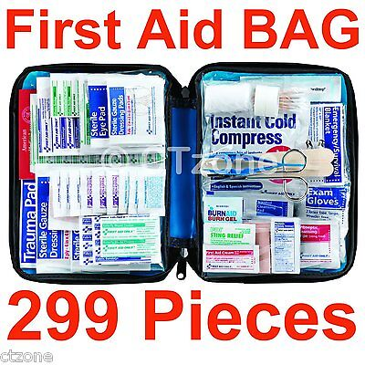 - 299 pc First Aid Kit Emergency Bag Home Car Outdoor American Red Cross Guide Set