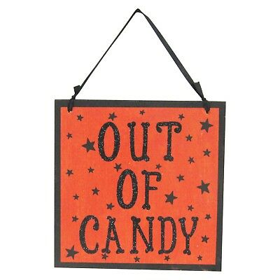 Halloween Trick Or Treat/Out of Candy Wall Hanging With Glitter - Hyde and Eek! ](Halloween Candy And Treats)
