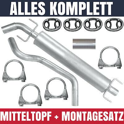 Mitteltopf Mittelschalldämpfer für Opel Zafira A I 1 99-05 2.0 DTi 2.2 DTI