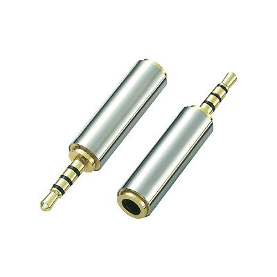 Metal 2.5mm Male Jack to 3.5mm Female Stereo Headphone Audio Adapter - EU -