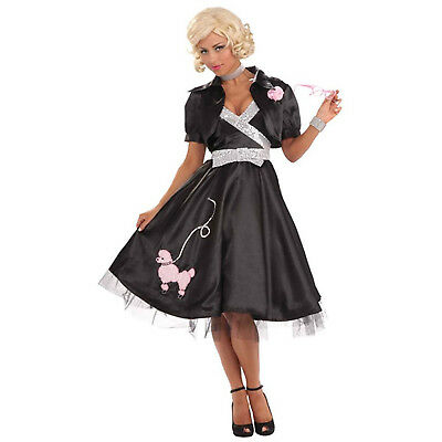 Poodle Diva Womens Adult 50S Dancer Black Halloween Costume