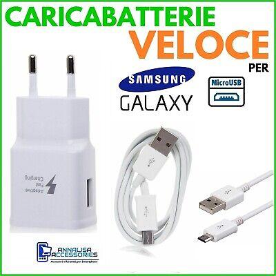 Używany, CARICABATTERIE VELOCE per SAMSUNG GALAXY TAB S 8.4 LTE PRESA + CAVO MICRO USB na sprzedaż  Wysyłka do Poland