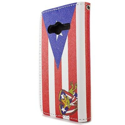 Wallet Case for Samsung Galaxy Ace NXT Card Folio Cover - Puerto Rico Flag for sale  Shipping to India