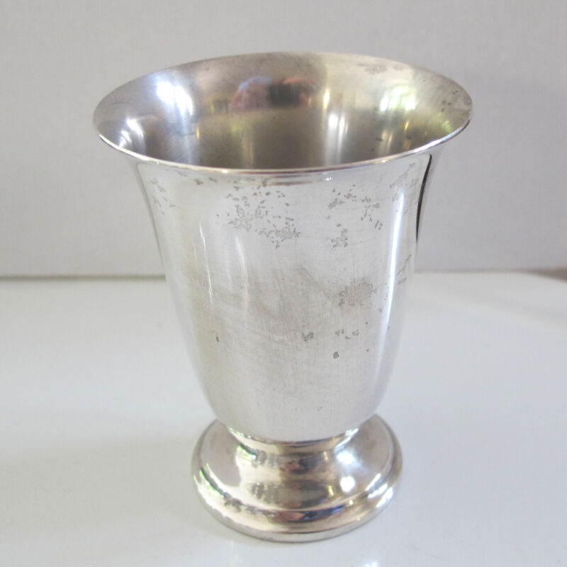 Manchester STERLING SILVER CHALICE - WINE or JUICE CUP - No Monogram