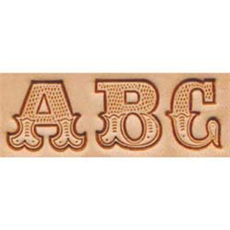 """Craftool 3/4"""" Alphabet Stamp Art Set 8145-00 by Tandy Leather"""