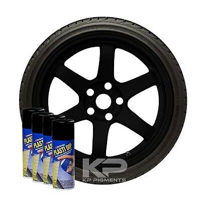 Performix Plasti Dip Black Wheel Rim Kit Spray Aerosol Cans 4 Pack 11oz
