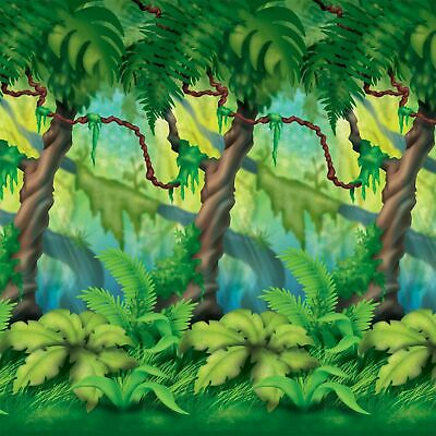 Dschungel Bäume Hintergrund Szene Setter Party Dekoration