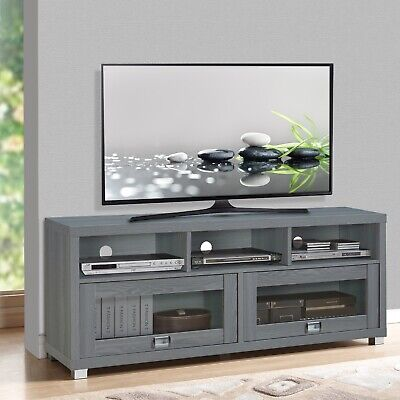 TV Stand 75 Inch Flat Screen Entertainment Media Console Home Center Furniture ()