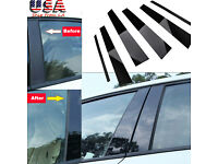 4dr 93-97 6pc Set Door Cover Trim Piano Black Pillar Posts fit Nissan Altima