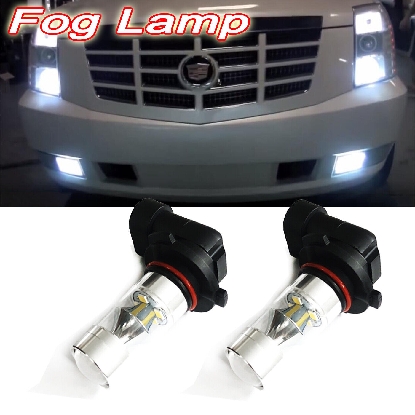 Details About 2x Front Fog Light Bulbs Led Fog Lamp For 2007 2014 Cadillac Escalade Esv Ext