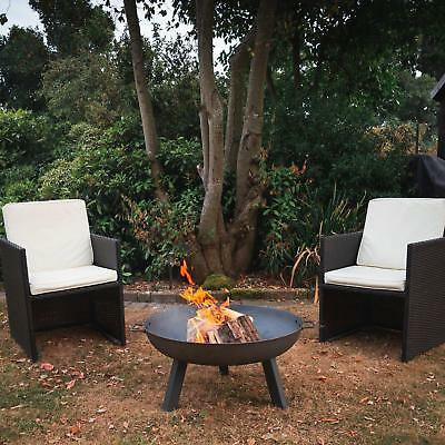 Garden Fire Burner Cast Iron Pit 55.5Cm Diameter Log Heater Outdoor Patio Warm