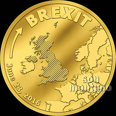 BREXIT COIN - HALF GRAM 24K GOLD PROOF - JUNE 23 2016 - Cook Islands $5 UK/EU