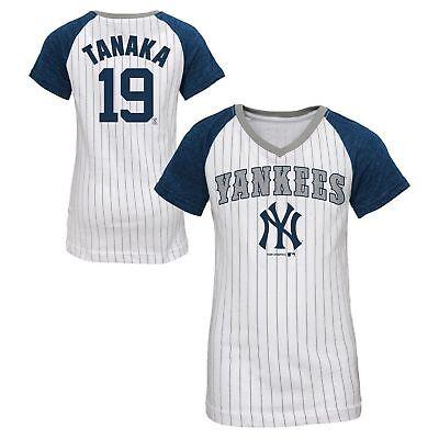 Youth Player Stripe ( New York Yankees Girl's Masahiro Tanaka #19 Player T-Shirt Youth Small (6-6x))