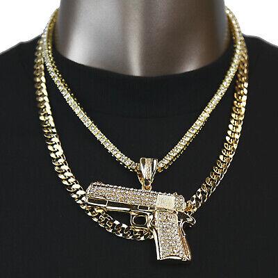 Gold PT Best Hip Hop Handgun Pistol Pendant 20