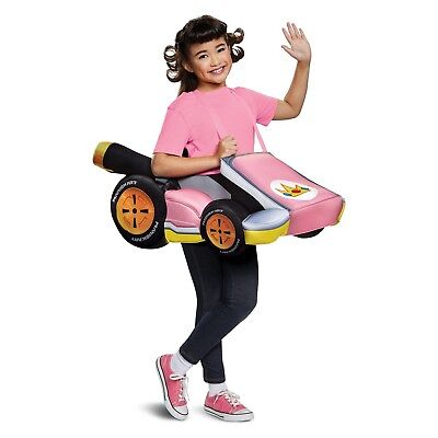Super Mario Kart Girls Princess Peach Ride-In Costume Cosplay Dress-up New (Princess Peach Dress Up)