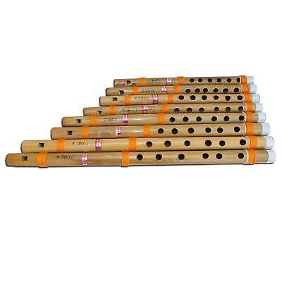 Musical - 8 Pc Straight Bansuri Set, indische Bambusflöten im Karton