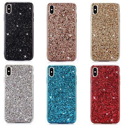 For Samsung Galaxy S9 S10 A40 A50 A70 Phone Case Bling Glitter TPU Bumper Cover