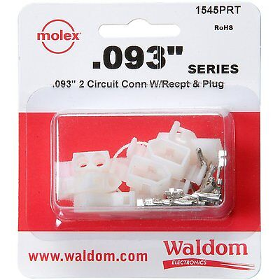 Molex 3 Set 2-pin Connector Kit 0.093 - Inch 22 Awg To 18 Awg
