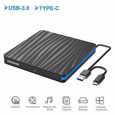 Lector Grabador CD DVD Externo USB 3.0 USB - C Portátil Windows...