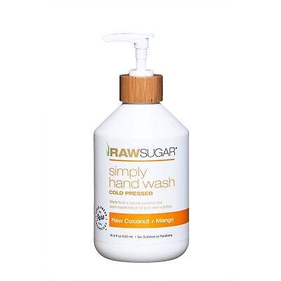 Hand Wash Coconut - Raw Sugar Natural Hand Wash Raw Coconut+Mango 16.9 oz Certified Organic Extract