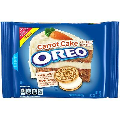 NEW NABISCO OREO CARROT CAKE FLAVOR COOKIE CREAM CHEESE FROSTING CREME 12.2 OZ - Halloween Cake Flavors