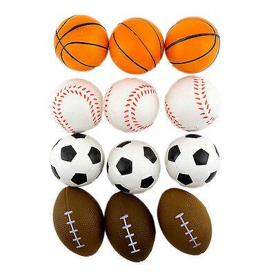12 Stress Sport Ball Sponge Balls Foam Ball Basketball Football Soccer Baseball ](Baseball Stress Ball)