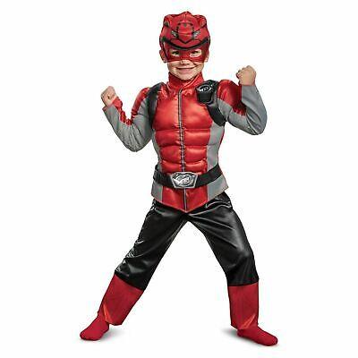 Rot Power Ranger Muskel Kleinkind Halloween Kostüm Größe: 2T