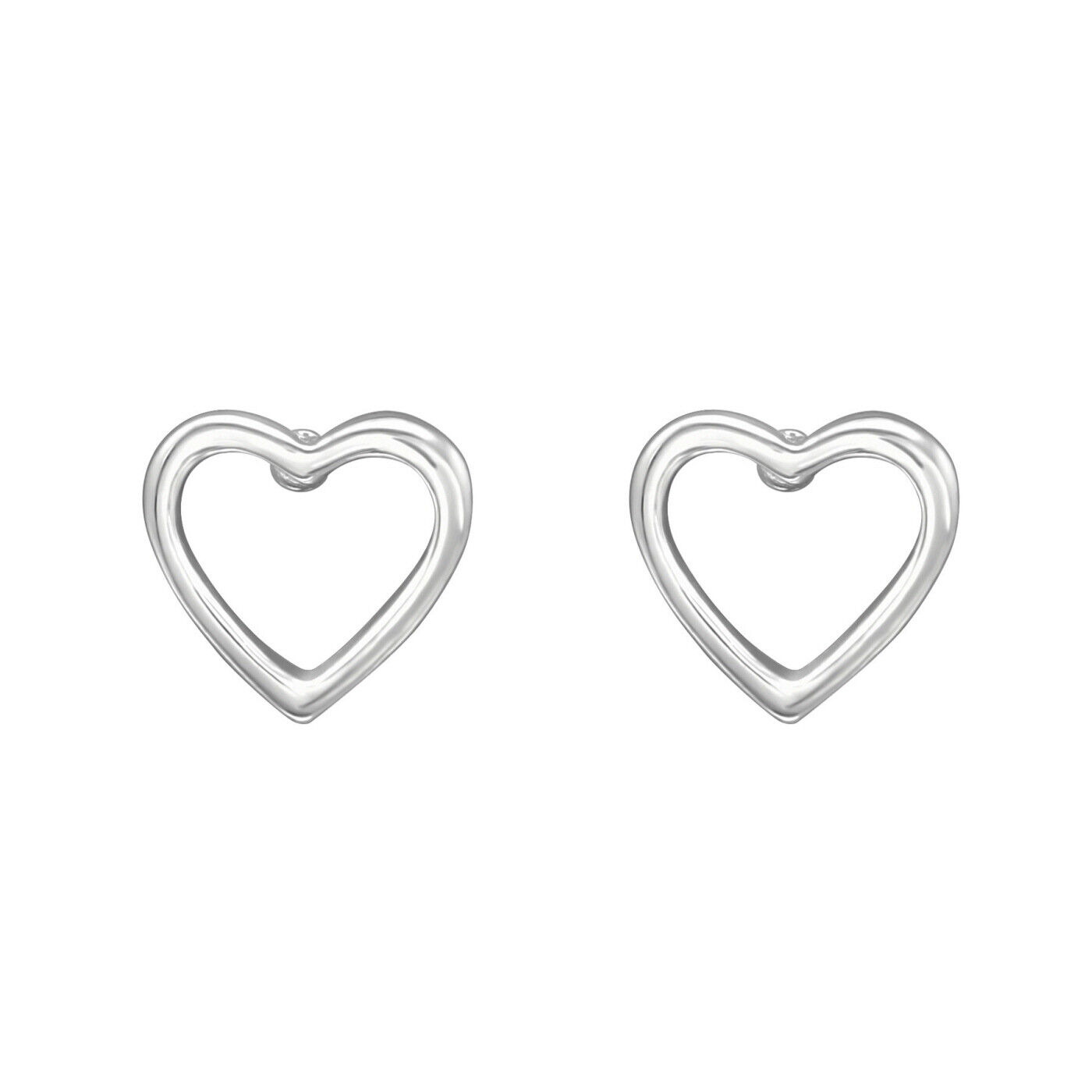 Details about  /Cutout Dotted Star Stud 925 Sterling Silver Push Back Earrings
