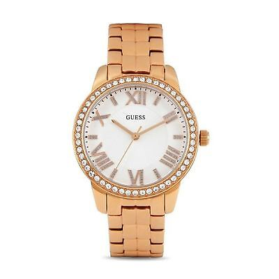 Ladies Allure Stainless Watch (Guess Ladies Watch Rose Gold 'Mini Allure' Rose Gold Stainless Steel W0444L3 )