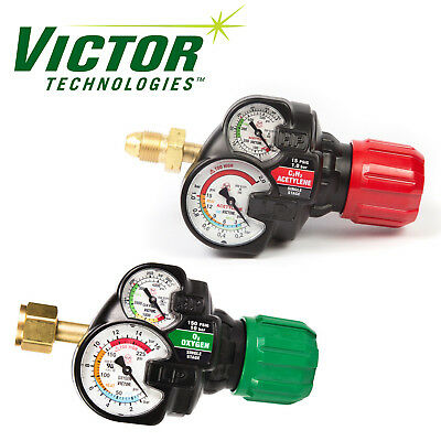 Set Of Genuine Victor Edge Ess3 2.0 Oxygen Acetylene Regulators Brand New