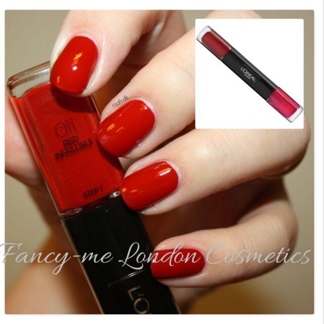 L\'Oreal Paris loreal Infallible duo nail polish + top coat FREE POST ...