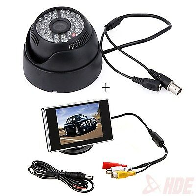 Wide Angle Surveillance Security Camera 48 Led Cctv   3 5  Color Lcd Monitor