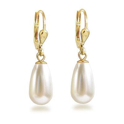 it Swarovski® Pearls Perlen Ohrhänger Tropfen Gold Doublé (Perlen Ohrringe Tropfen)