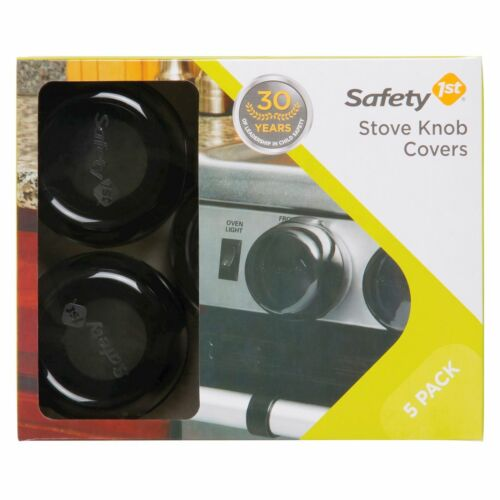 Safety 1st Universal Design Stove Knob Covers 5-Pack Black HS147