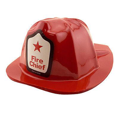 Fire Fighter Kids (Child Fire Fighter Man Chief Firefighter Fireman Red Plastic Helmet Costume)