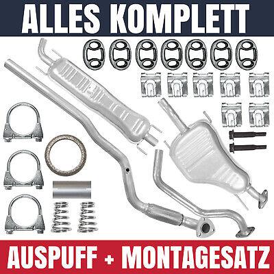 Auspuffanlage Schalldämpferset Auspuff Opel Zafira A 1 I 99-05 1.6 Montagesatz