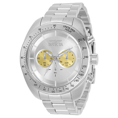 Invicta Men's Watch Speedway Chronograph Silver and Gold Dial Bracelet 30788