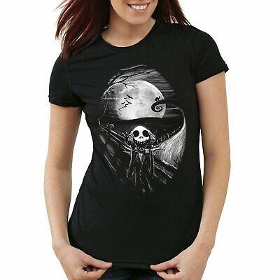 e Nightmare Before Christmas Women Gilrs Halloween T-shirt  (Jack Skellington Kinder)