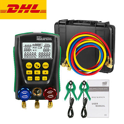Refrigeration Digital Manifold Meter Hvac Temperature Pressure Vacuum Tester Kit