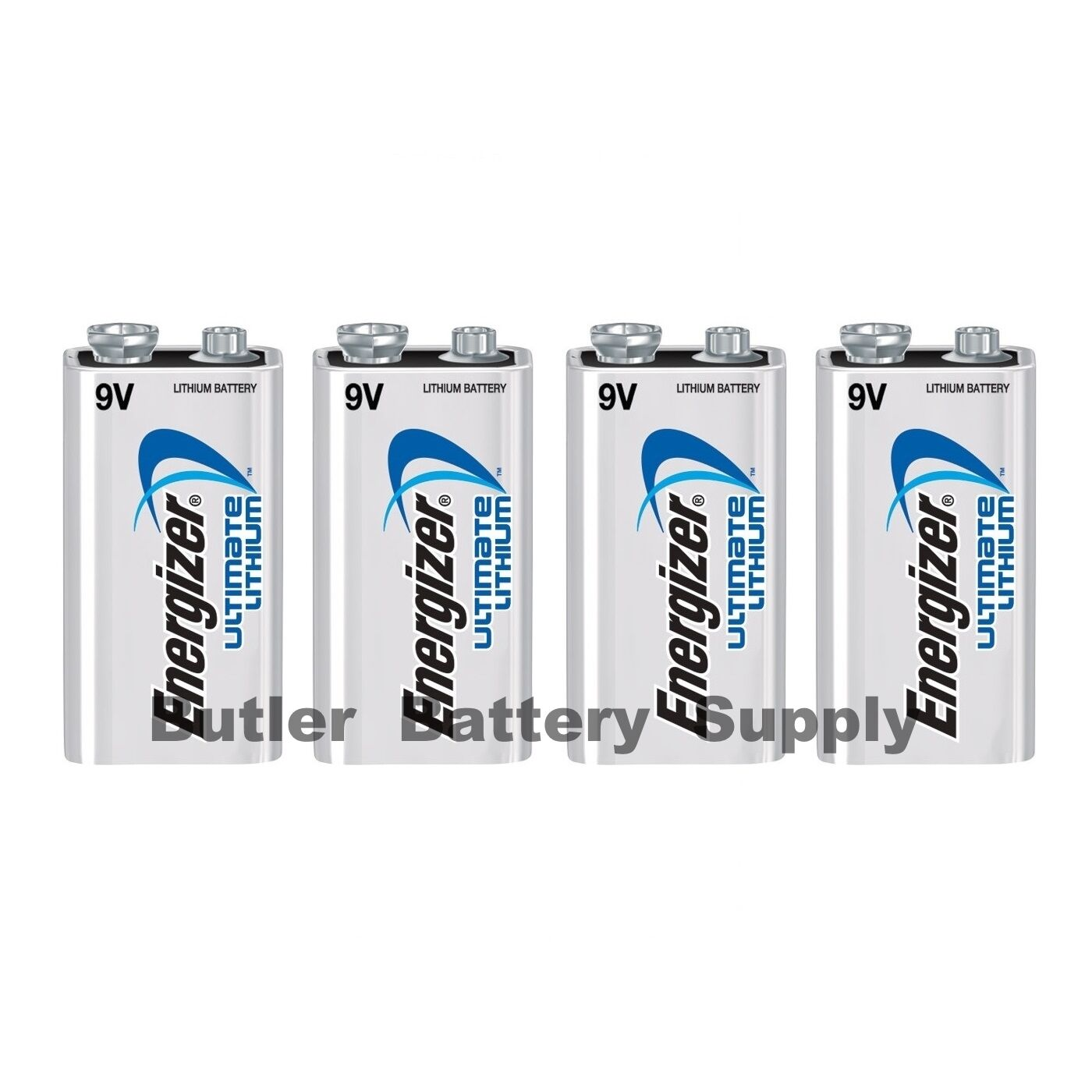 4 Energizer Ultimate Lithium 9v (9 Volt) Batteries (l522,...