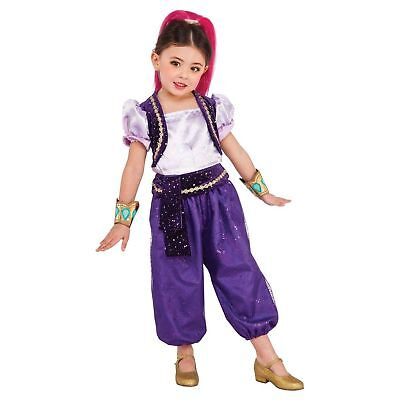 NEW Shimmer & Shine Toddler Halloween Costume Size 2T Jumpsuit Cuffs Headpiece