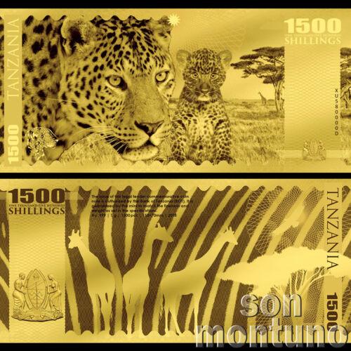LEOPARD - African Big Five - 1 Gram 24K Gold Flexible Bank Note 2018 Tanzania
