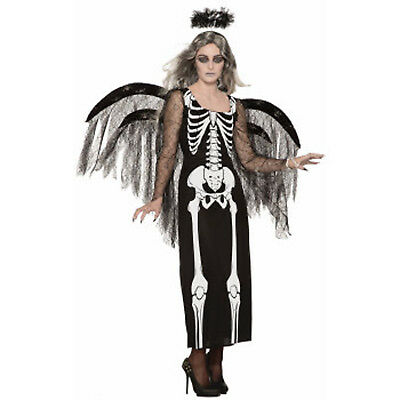 Angel Of Death Womens Adult Skeleton Spirit Halloween Costume-Std