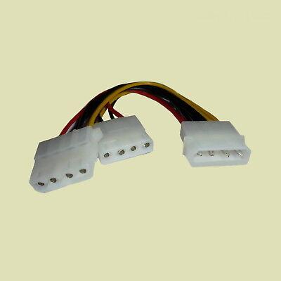 Stromversorgung Y-kabel (DeLOCK® Y- Kabel Stromversorgung Molex Stecker auf 2x 4pin Molex Buchse 82100)