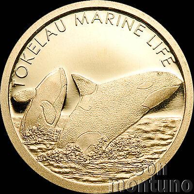 2012 Tokelau - ORCA WHALE - Marine Life 24K Half Gram .9999 GOLD 5 Dollar Coin