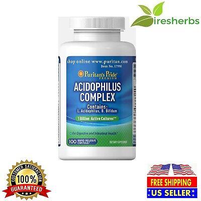 ACIDOPHILUS COMPLEX 1 BILLION UNITS PROBIOTIC LACTOBACILLUS SUPPLEMENT 100 CAPS