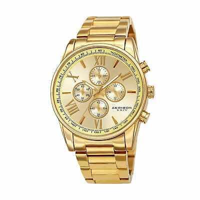 Men's Akribos XXIV AK1072 Quartz Chronograph Stainless Steel Watch - Gold